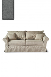 Bond Street Sofa 2.5 Seater, oxford weave, steel grey Riviera Maison 4384004