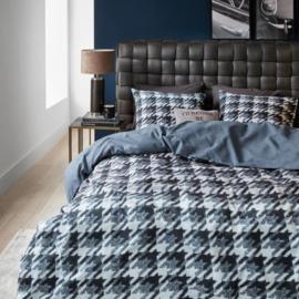 DE Riviera Maison dekbedovertrek Pied de Poule Blue 135x200 (Duitse maat!!)..