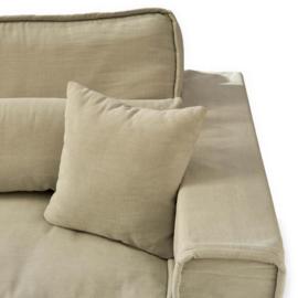 Metropolis Sofa 3,5 seater, washed cotton, ash grey Riviera Maison 3583007
