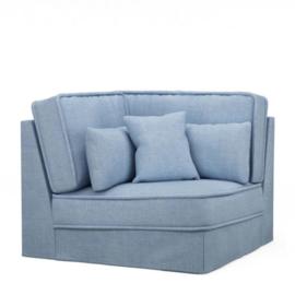 Metropolis Corner, washed cotton, ice blue 3718009