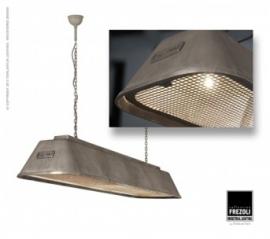 Bizz Gegoten aluminium hanglamp Frezoli Aluminium L.835.1.800