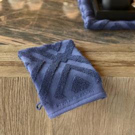RM Chic Wash Cloth dark blue Riviera Maison 495450