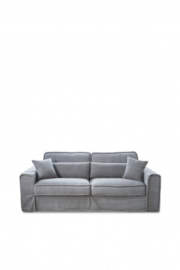 Metropolis Sofa 2,5 seater, washed cotton, grey Riviera Maison 3658002