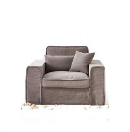 Metropolis Love Seat, washed cottton, Stone 3659003
