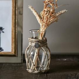 Rustic Rattan Mini Flower Vase Riviera Maison 446650