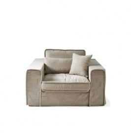 Metropolis Love Seat, washed cotton Natural 3659001