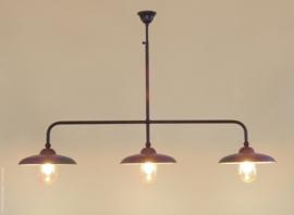 Miraso Loodkleur 3 kap met glazen stolpen Frezoli L.097.9.110