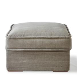 Metropolis Footstool 80x80 cm, washed cotton, stone Riviera Maison 3724003