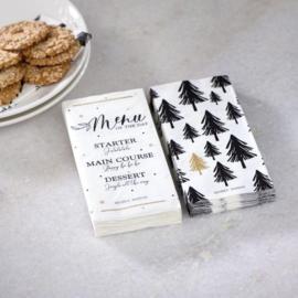 Paper Napkin Christmas Menu Riviera Maison 494670