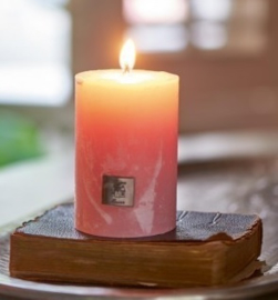 Rustic Candle pink 7x13  Riviera Maison 315970