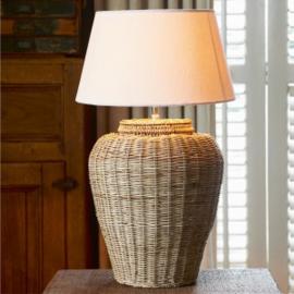 Rustic Rattan Grand Lobby Lamp Base L Riviera Maison 308260