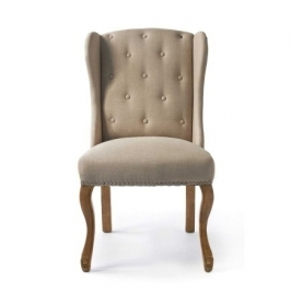 Keith Dining Wing Chair Linen, FLAX, Riviera Maison 3827001