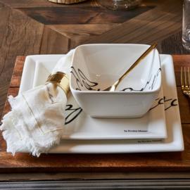 4x Buon Appetito Square Plate 22 x 22 Riviera Maison 164960