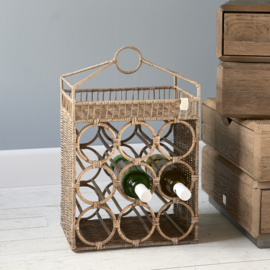 Rustic Rattan The Resort Wine Rack Riviera Maison 477380