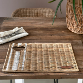 Rustic Rattan With Love Placemat RM 478110