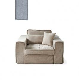 Metropolis Love Seat, washed cotton, ice blue Riviera Maison 3659009