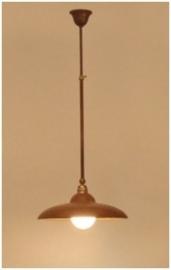 Zanari Enkelvoudige hanglamp bruin patina Frezoli L.068.9.820