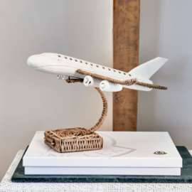 Rustic Rattan Plane On Stand Riviera Maison 458370