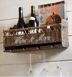 Rustic Rattan Wine & More Holder Riviera Maison 312870