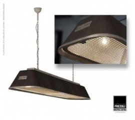 Bizz Gegoten mat zwart hanglamp.Frezoli L.835.1.600