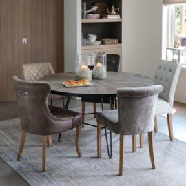 George Dining Chair, pellini, coffee, Riviera Maison