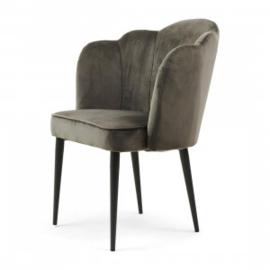 Rivièra Maison Eetkamerstoel Lauderdale Velvet, Slate Grey 4523001