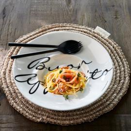 4x Buon Appetito Pasta Plate Riviera Maison 448820
