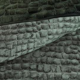 Riviera Maison dekbedovertrek Croco green 240x200/220