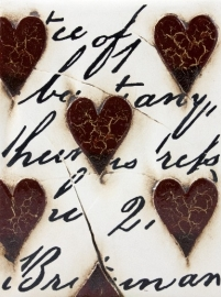 T 01 Red Hearts With Script Sid Dickens