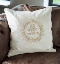 RM It's The Season To Sparkle Pillow Cover gold 50x50 Riviera Maison 389260