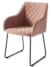 Frisco Drive Dining Armchair, velvet, pink Riviera Maison 4184003