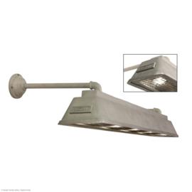 Bizz small aluminium Gegoten aluminium wandlamp met wandsteunen.