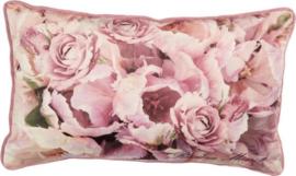 Flower Fever Pink 30 x 50 cm sierkussen Riviera Maison (incl. binnenvulling)!
