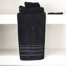 RM Elegant black Towel 140x70 Riviera Maison 467010