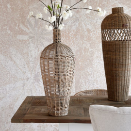 Rustic Rattan Weave Vase Riviera Maison 474940