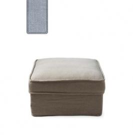 Metropolis Hocker 80x80 cm, washed cotton, ice blue Riviera Maison 3724009