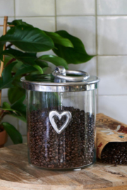 Heart Metal Storage Jar Riviera Maison 413560