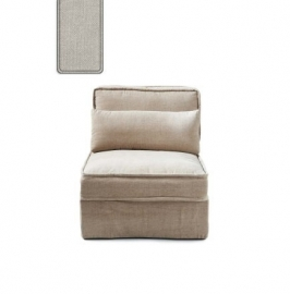 Metropolis Center, washed cotton, ash grey Riviera Maison 3721007