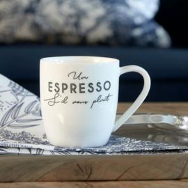 6x S'il Vous Plaît Espresso Mug Riviera Maison 458180