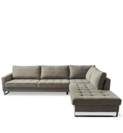 West Houston Corner Sofa Chaise Longue Right, cotton, stone Riviera Maison 3964003