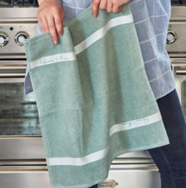 RM Kitchen Towel leaf green 50x50 Riviera Maison 382140