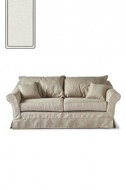 Bond Street Sofa 2.5 Seater, oxford weave, alaskan white Riviera Maison 4384001