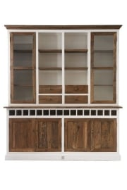 Driftwood Cabinet with winerack Double Riviera Maison 236720