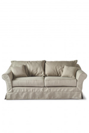 Bond Street Sofa 2.5 Seater, oxford weave, ansvers flax Riviera Maison
