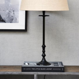 L'Hotel Lamp Base antique black Riviera Maison 436720