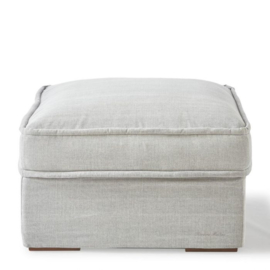 Metropolis Footstool 80x80 cm, washed cotton, ash grey Riviera Maison 3724007
