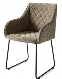 Frisco Drive Dining Armchair, velvet, olive Riviera Maison 4184001