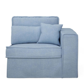 Metropolis Corner Arm Right, washed cotton, ice blue 3719009