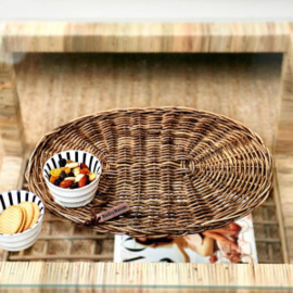 Rustic Rattan Placemat Oval Riviera Maison 387680