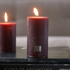 Rustic Candle burgundy 7x13 Riviera Maison 467250